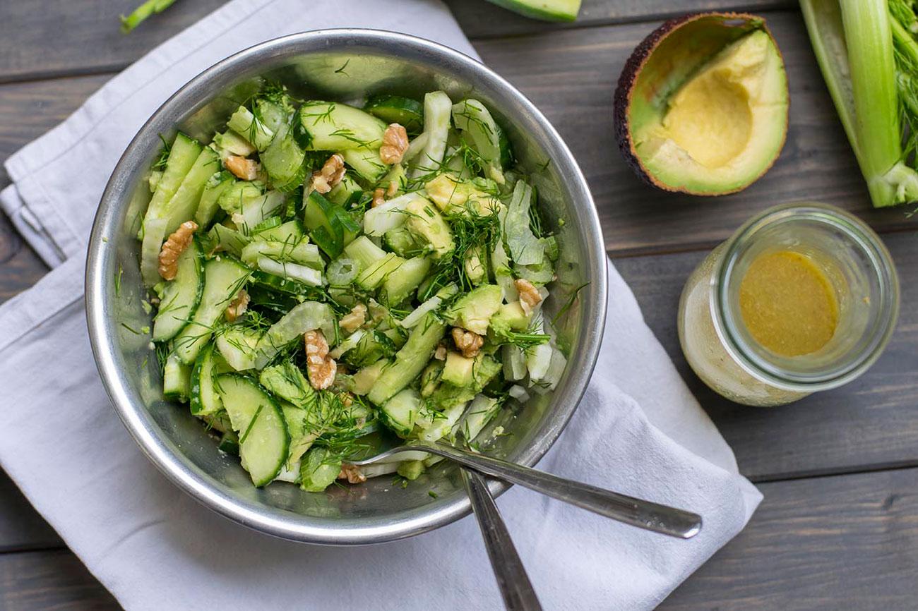 Linsen Salat vegan Rezept
