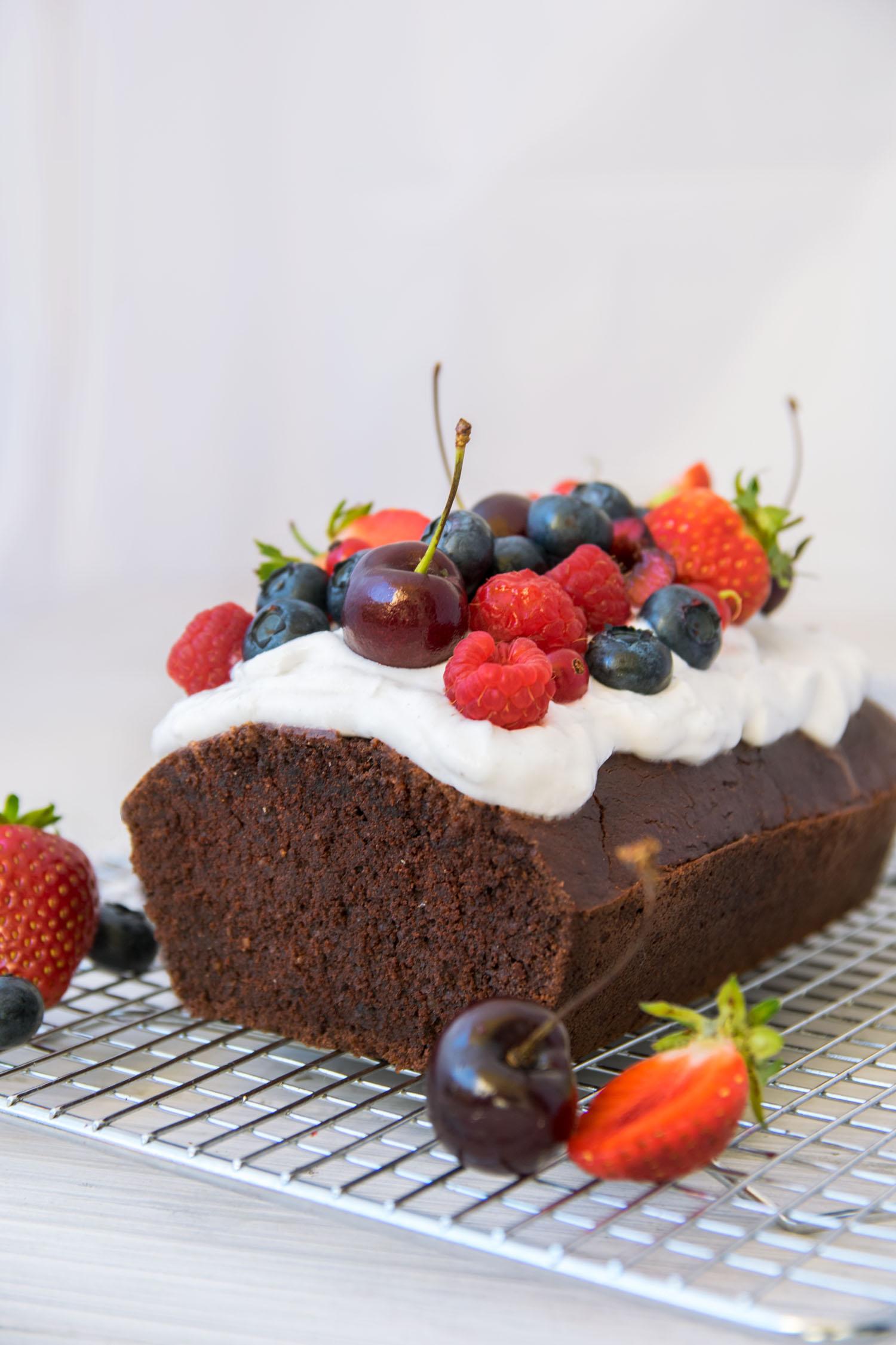 vegan glutenfreier Schokoladenkuchen Rezept