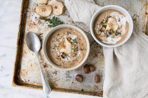 vegane Maronen Suppe