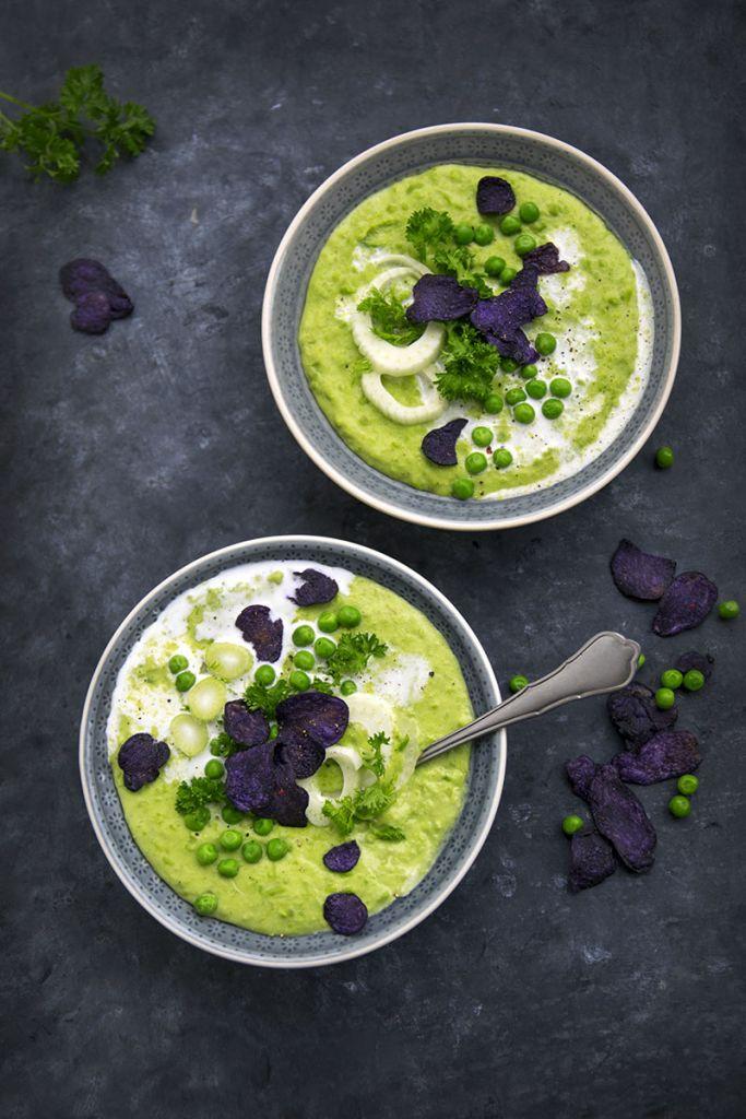 Erbsencreme suppe vegan rezept
